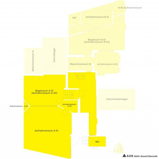Tonstudio01-Aktiv Sound Studio - Grundriss - Floorplan - Musikproduktion - Tirol